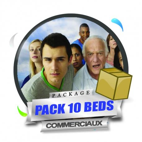 Pack 10 Beds Commerciaux